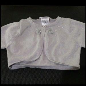 """$3 w bundle - """"Bonnie Jean"""" Silver Cardigan"""